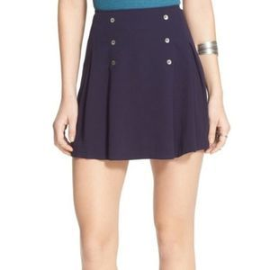 Free People NWT Navy Military Button Skirt Size 0